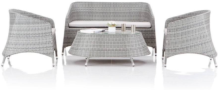 View Studio F Grey Synthetic Fiber Table & Chair Set(Finish Color - Grey) Price Online(Studio F)