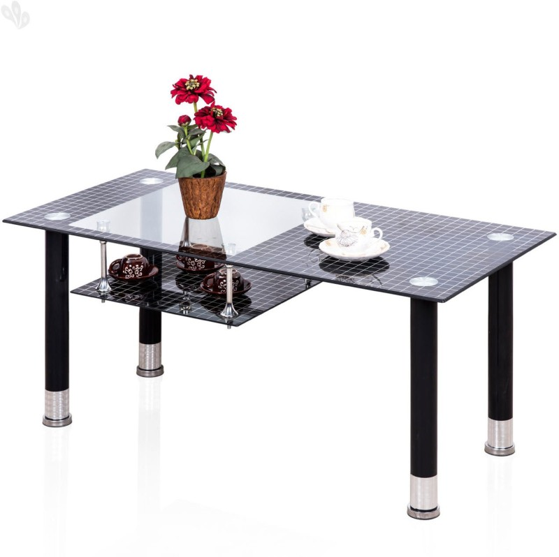 Royal Oak Glass Outdoor Table(Finish Color - Dark)