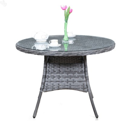 Royal Oak Resort Synthetic Fiber Outdoor Table(Finish Color - Grey)