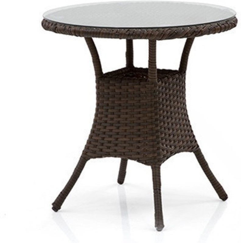 Urban Ladder Calabah Patio Synthetic Fiber Outdoor Table(Finish Color - Brown)