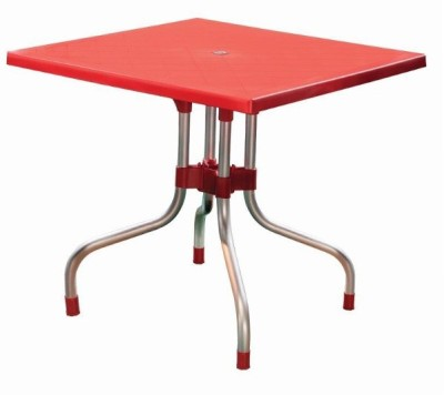 Mavi Plastic Cafeteria Table(Finish Color - Red)