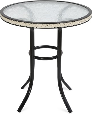 @home by Nilkamal Metal Outdoor Table(Finish Color - White)