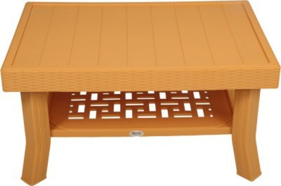 Mavi Plastic Outdoor Table(Finish Color - Amber Gold)