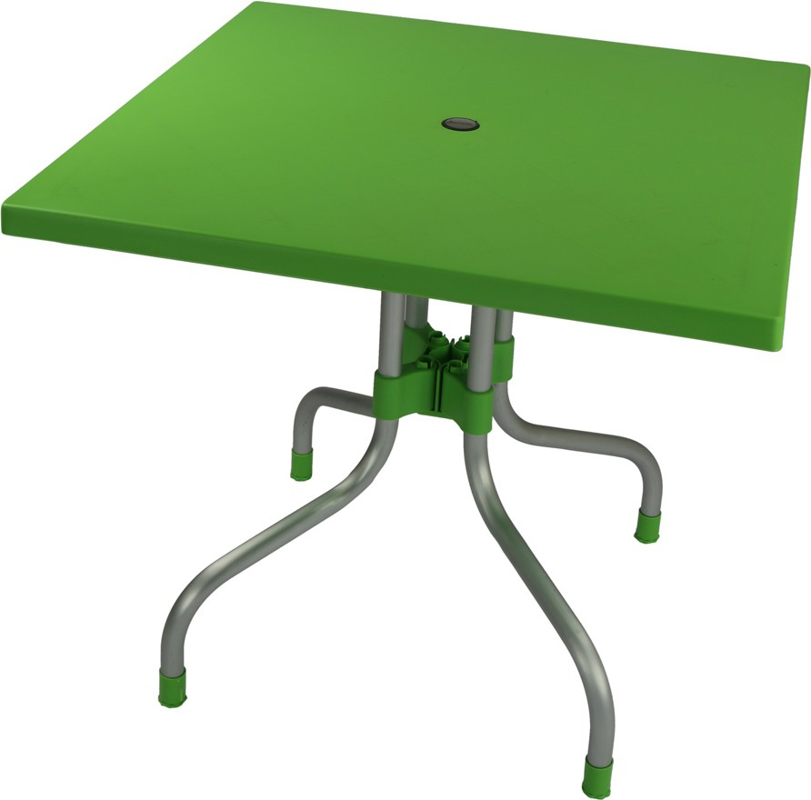 View Supreme Olive Plastic Outdoor Table(Finish Color - Green) Furniture (Supreme)