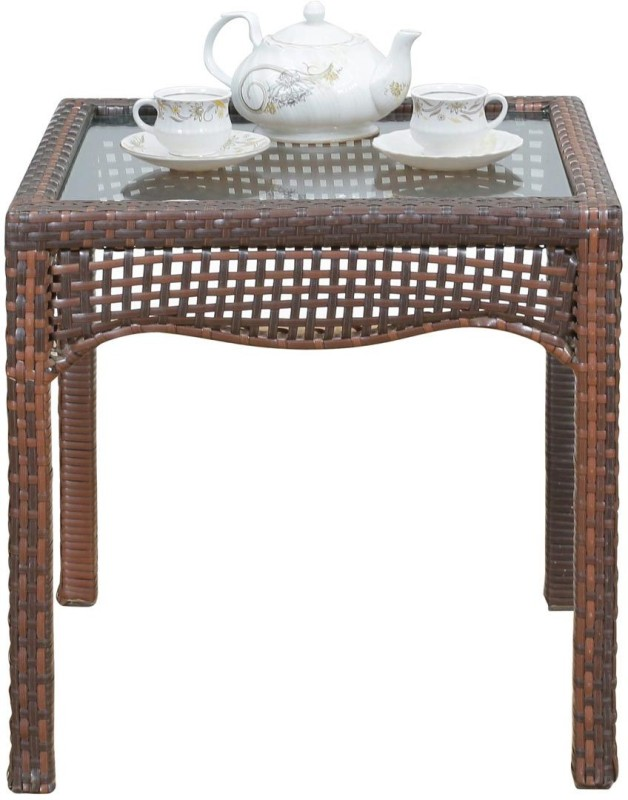 Royal Oak Moon Synthetic Fiber Outdoor Table(Finish Color - Honey Brown)