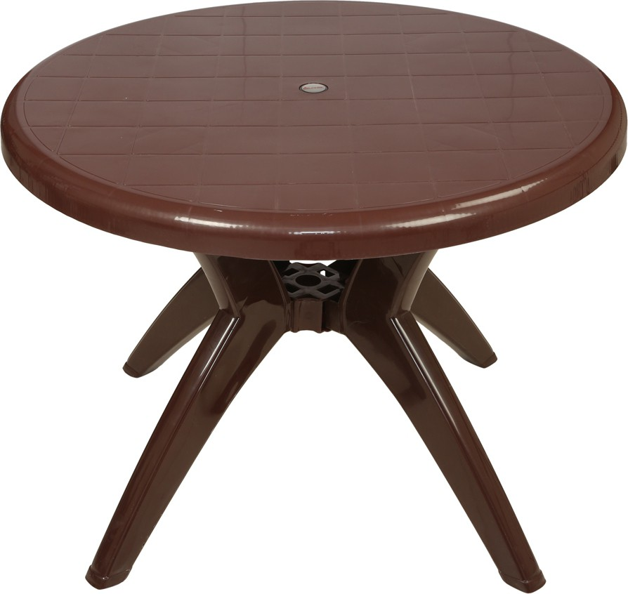 View Supreme Marina Plastic Outdoor Table(Finish Color - Globus Brown) Furniture (Supreme)