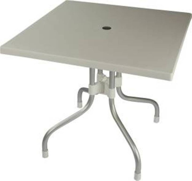 Mavi Plastic Outdoor Table(Finish Color - White)