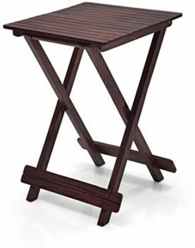 Urban Ladder Latt Folding Solid Wood Outdoor Table(Finish Color - Mahogany)