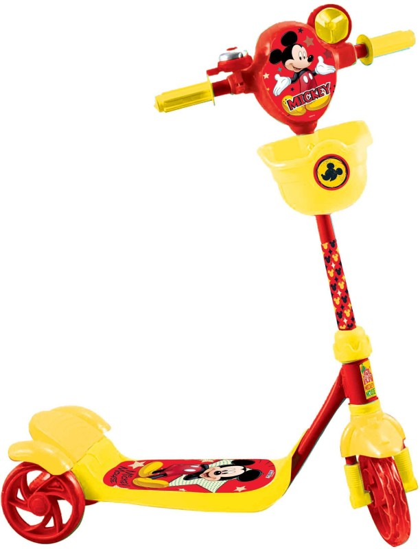 Disney Mickey Three Wheel Scooter(Yellow, Red)