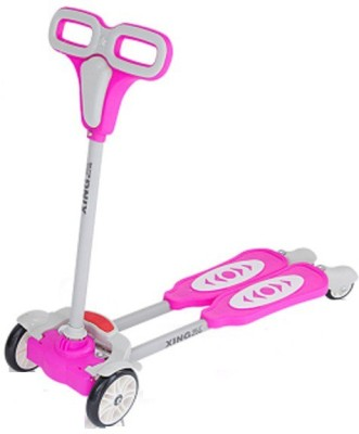 The Flyer's Bay 4 Wheel Flip Flop Scooter Pink)