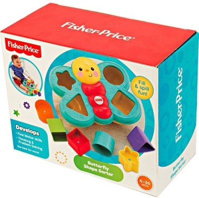 FISHER PRICE BUTTERFLY SHAPE SORTER - CDC22