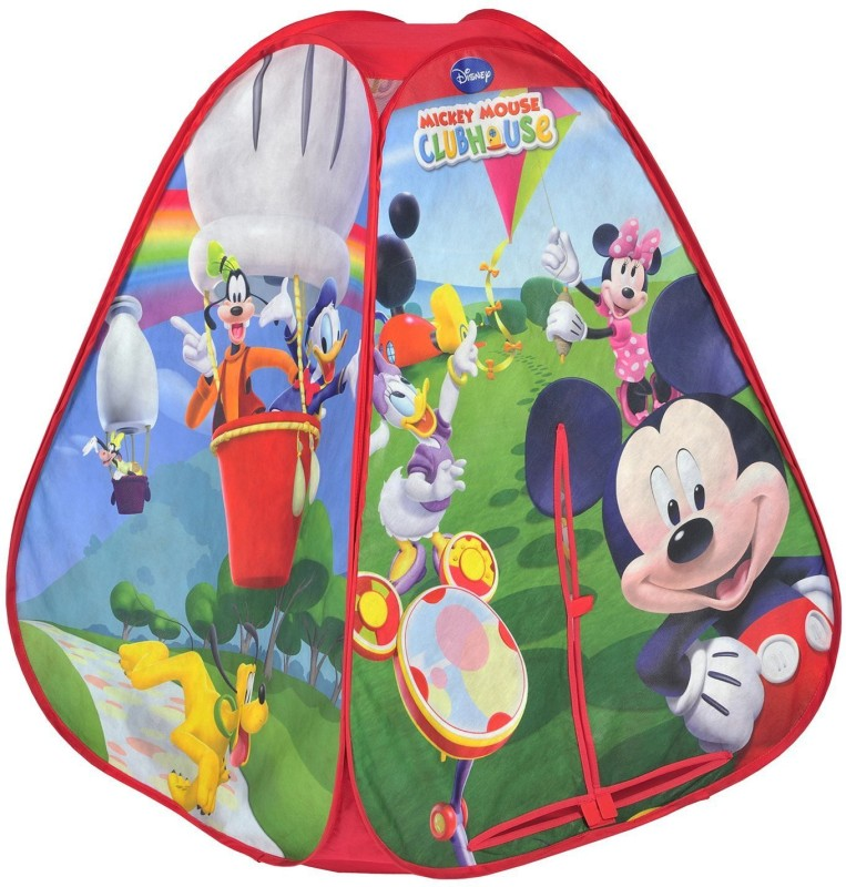 Disney Mickey Mouse Club House 4 Panal 2 Sides Print Tent(Red)