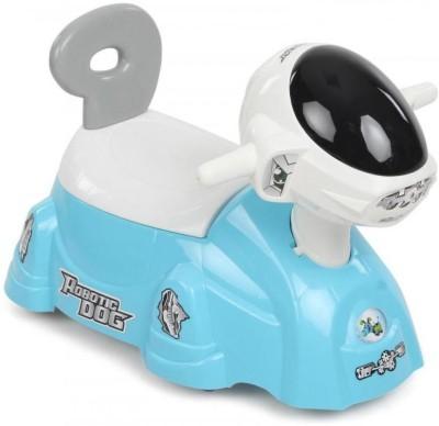 Suzi Robotic Dog Ride On Cum Poty Chair - Blue