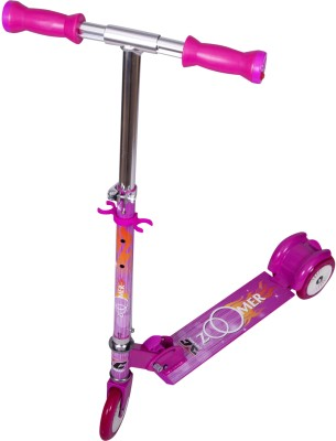 COSMIC Zoomer Led 3 Wheel Kids Kick Scooter Dark Pink(Multicolor)
