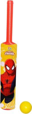 Disney Marvel Ultimate Spiderman Red Color Plastic Bat And Ball Set - Senior