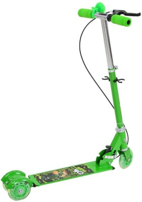 Aabana Green Brake and Bell Scooter