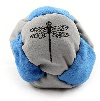 Dragonfly Footbags Dragonfly Footbags Light Blue and Grey  Pogo 8 Panel Sand Filled (Hacky Sack)