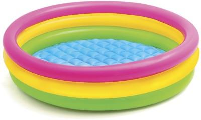 Intex Sunset Glow Pool, 3-Ring, W/ Infl. Floor,Shelf Box