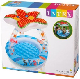KC Intex Lil' Star Shade Baby Pool - 57428NP (40In X 34In)(Multicolor)
