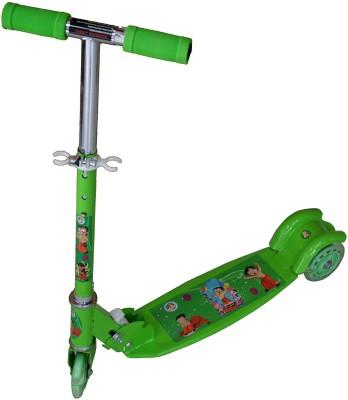 Adraxx Green Wide Board Tri-Wheel Kick Scooty