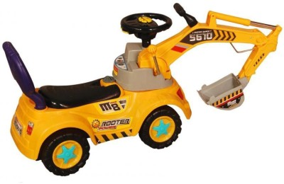 Suzi Sliding Construction Ride On - Yellow