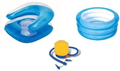 Bestway Baby pool, Kiddie Chair and Air Step Inflation Pump
