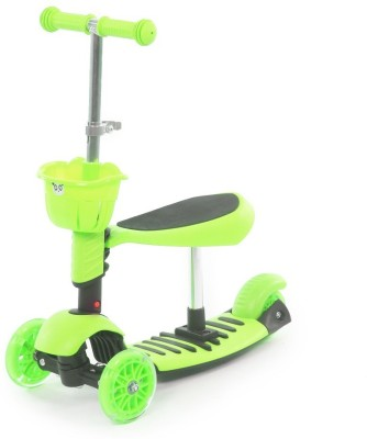The Flyer's Bay 3 in 1 Sit or Kick & Height Adjustable Scooter for Kids