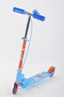Toyhouse Height Adjustable Scooter with Wheel Lights & Breaks