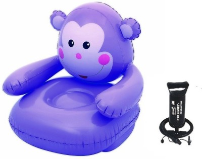 Bestway Lil Monkey Inflatable Chair with Air Step Pump(Multicolor)