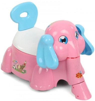 Suzi Happy Elephant Ride On Cum Poty Chair - Pink