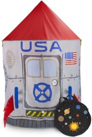 Imagination Generation Space Adventure Roarin' Rocket Play Tent with Milky Way Storage Bag(Multicolor)