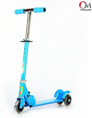 om enterprise Kids 3 Wheeler Foldable Height Adjustable Scooter Blue Blue  available at Flipkart for Rs.634
