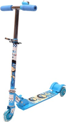 Toyhouse Three Wheeled Height Adjustable Scooter with LED Light Wheels & Anti-slip foot grip