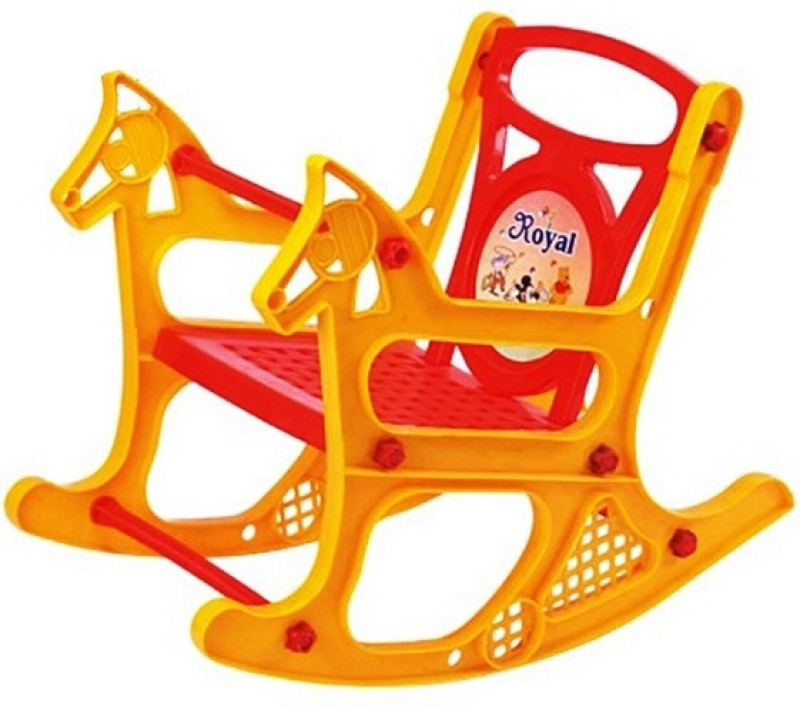 Panda Attractive,Colourful & Branded Baby Rocking Chair With Handle & Foot rest(Red)