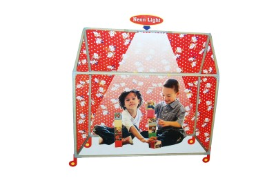 SAFFRON TRADE PLAY TENT HOUSE WITH LIHGT AND WHEEL