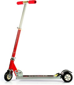 SAPPHIRE SA Heavy Metallic Big Size 3 Wheel Height Adjustable Kids Folding Scooter - Red(Red)