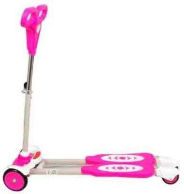 ODDEVEN Four Wheel Y Fliker Folding Skate Scooter Pink