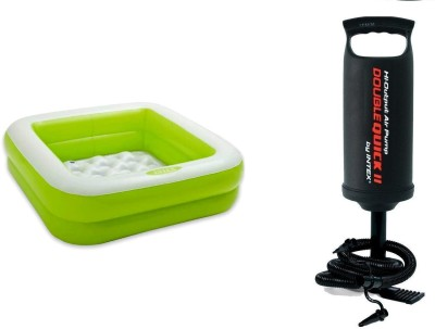Intex Square Play Swimming Pool For Kids With Hand Pump
