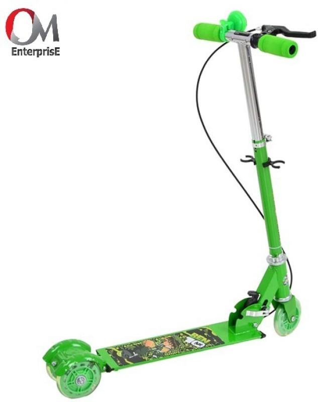 om enterprise Kids 3 Wheeler Foldable Height Adjustable Scooter(Green)