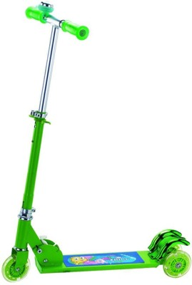 A R ENTERPRISES 3 Wheel Foldable Scooter -Green
