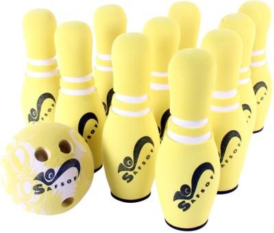 Safsof Rubber Foam Mini Bowling Pin In Bag 10 Pins - Yellow