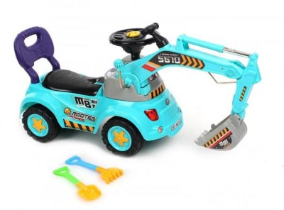 Suzi Sliding Construction Ride On - Blue