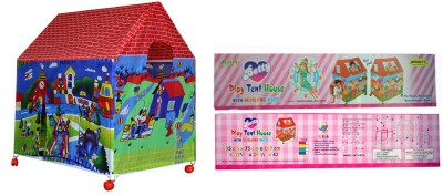 Taaza Garam Kids Play Tent House with Revolving Wheels - Gift Toy