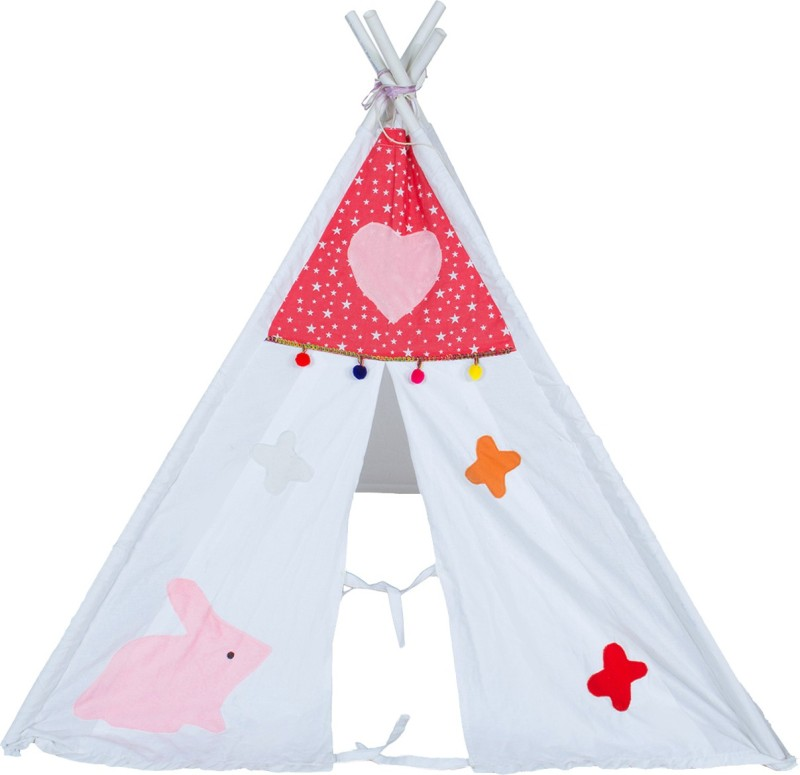 Creative Textiles Tent House(Red, White)