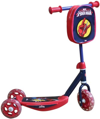 Spiderman Spiderman 3 Wheel kick Scooter(Red)