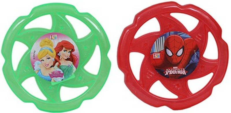 Disney Combo of Disney Princess and Marvel Spiderman Flying Disc(Multicolor)