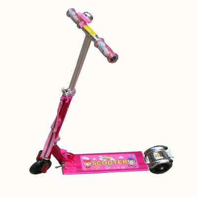 Adraxx Pink Power Suspension Scooty for kids