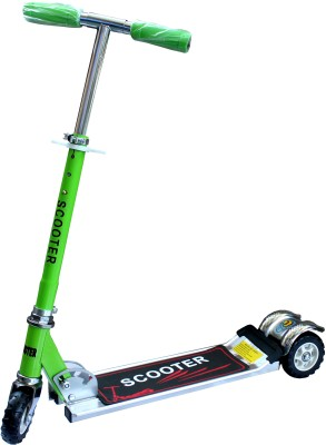 Scrazy Galaxy 3 Wheel Folding Green Color Scooter For Kids