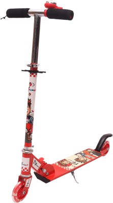 Toyhouse Two Wheeled Height Adjustable Scooter with LED Light Wheels & Anti-slip foot grip