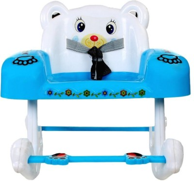 PANDA Baby White & Blue Rocking Chair With Safety Belt